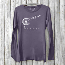 Dandelion Long Sleeve T-shirt for Women - Wish More Uni-T