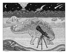 Leopard on a Bridge | Dog in Saucer | Dinosaurs | Fox Hole | 8X10 Pen & Ink Art Prints Uni-T
