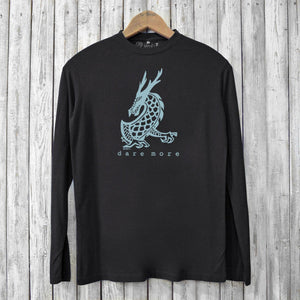 Dare More, Long Sleeve T-shirt for Men Uni-T