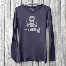 Veggie Ninja Long Sleeve T-shirt for Women Uni-T