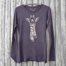 Giraffe Long Sleeve Shirt for Women Uni-T