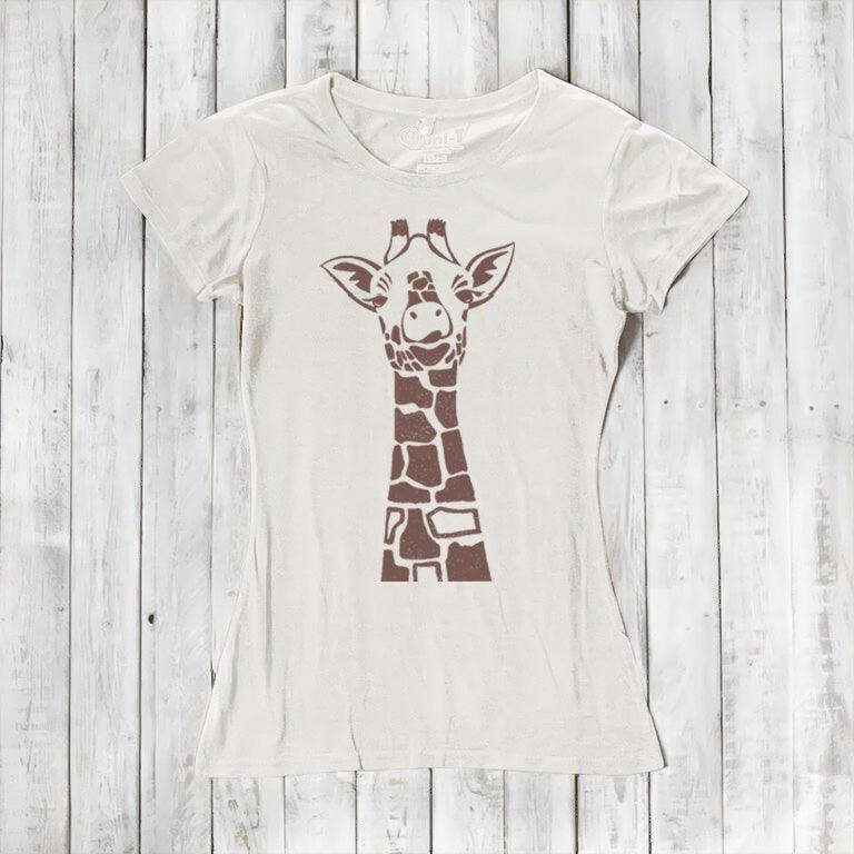 1af6f433 Giraffe T shirt | Animal Print Shirt | Womens Bamboo Clothing - Uni-T