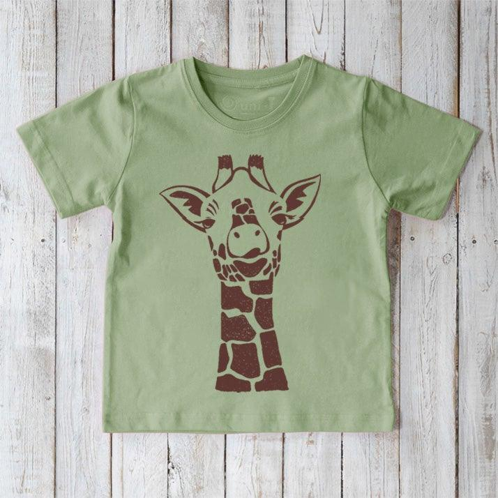 Kids Giraffe T-shirt | Organic Kids Shirt | Childrens Organic Clothing