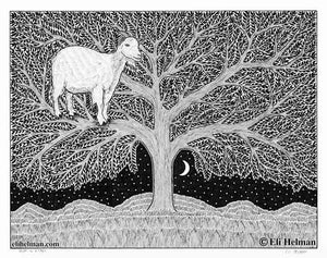 Landscapes | Double Falls | Goat in a Tree | House on a Hill | 8X10 Art Prints Uni-T