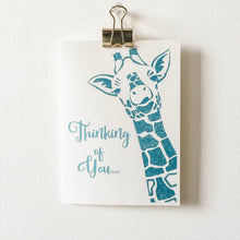 Thinking of You Giraffe Greeting Card Uni-T