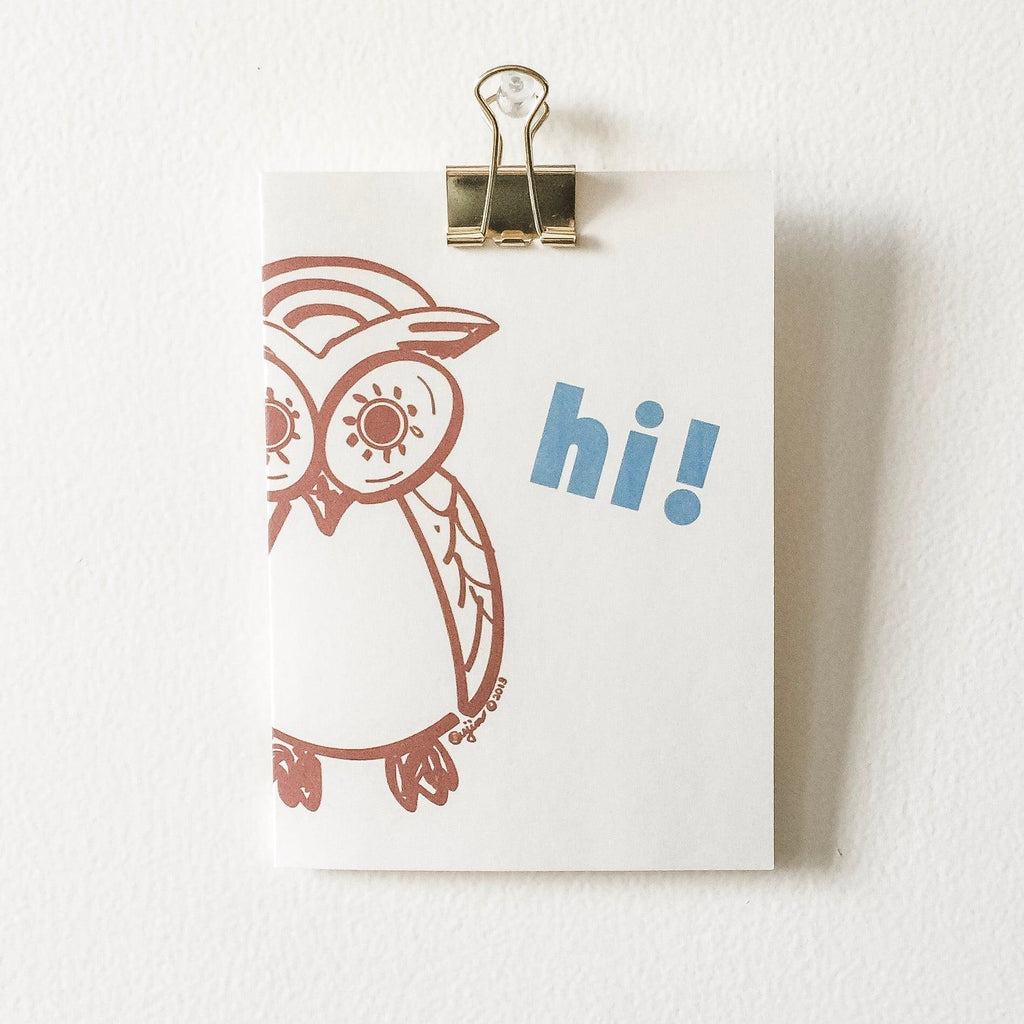 Owl Greeting Card Uni-T