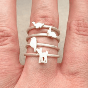 Sterling Silver Animal Rings Uni-T