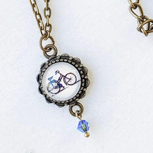 Bicycles Glass Dome Necklace Uni-T