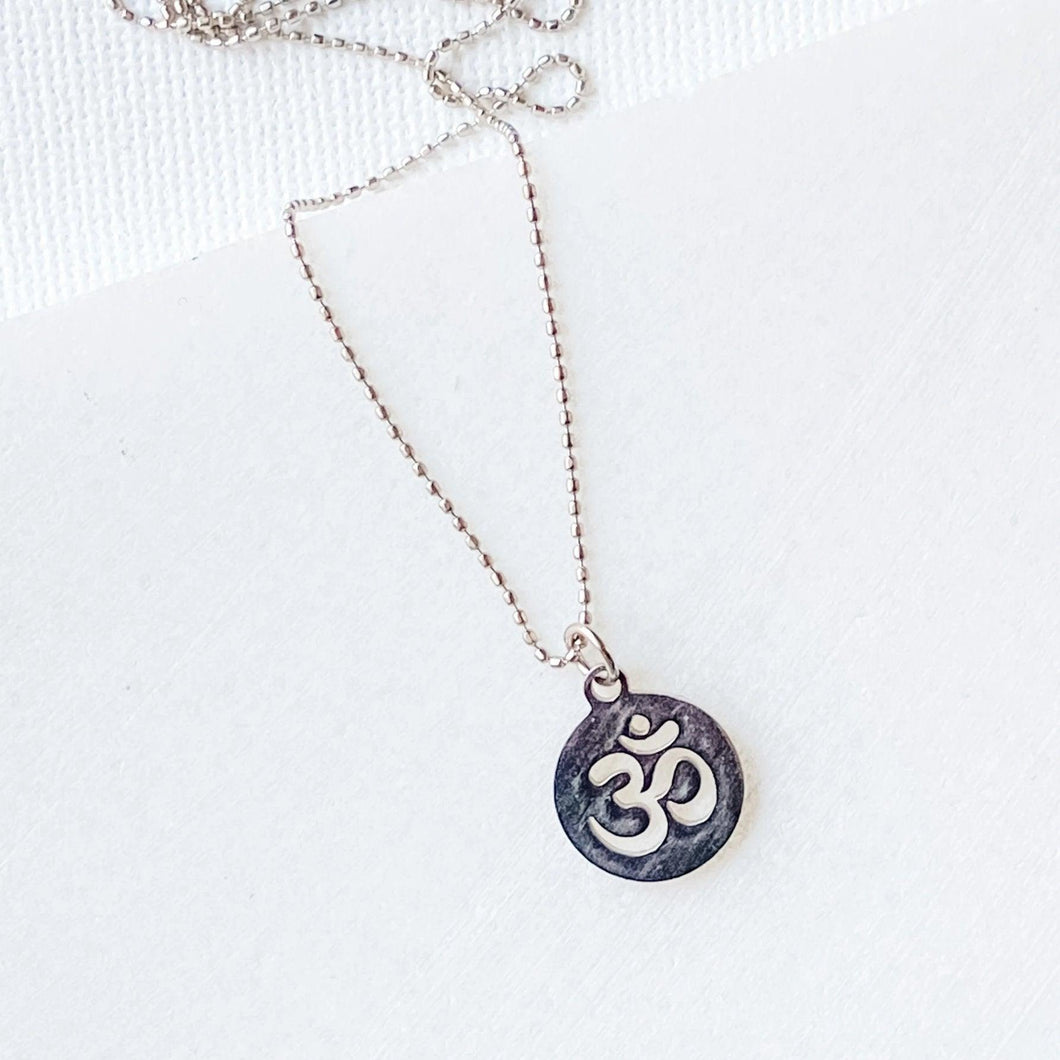 Stainless Steel Charm Om Necklace Uni-T