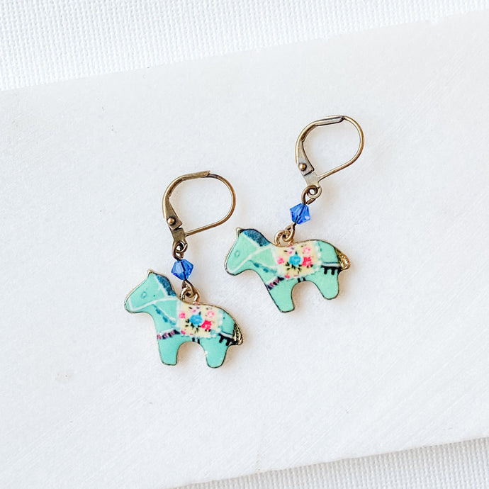 Enamel Charm Earrings - Pony Uni-T