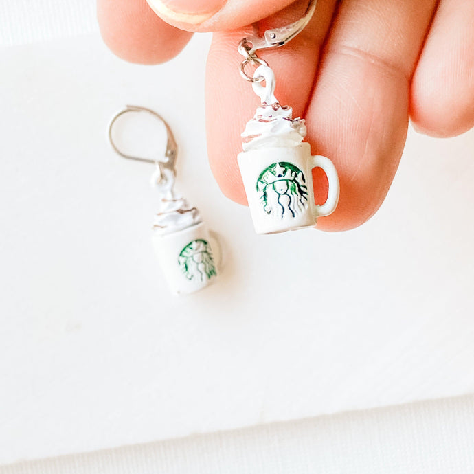 Starbucks Cafe Latte Earrings Uni-T