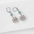 Rhodium Plated Flower Earrings with Surgical Steel Ear Wire Uni-T