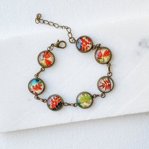 Vintage Prints Bracelets - Autum Leaves Uni-T