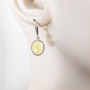 Faceted Glass Earrings with Surgical Steel Ear Wire Uni-T Earrings