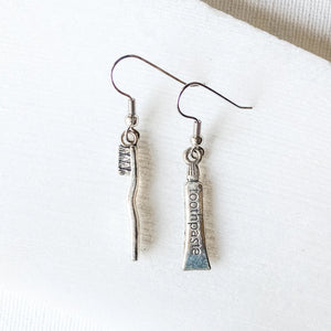 Tooth Brush & Tooth Paste Charm Earrings Uni-T Earrings