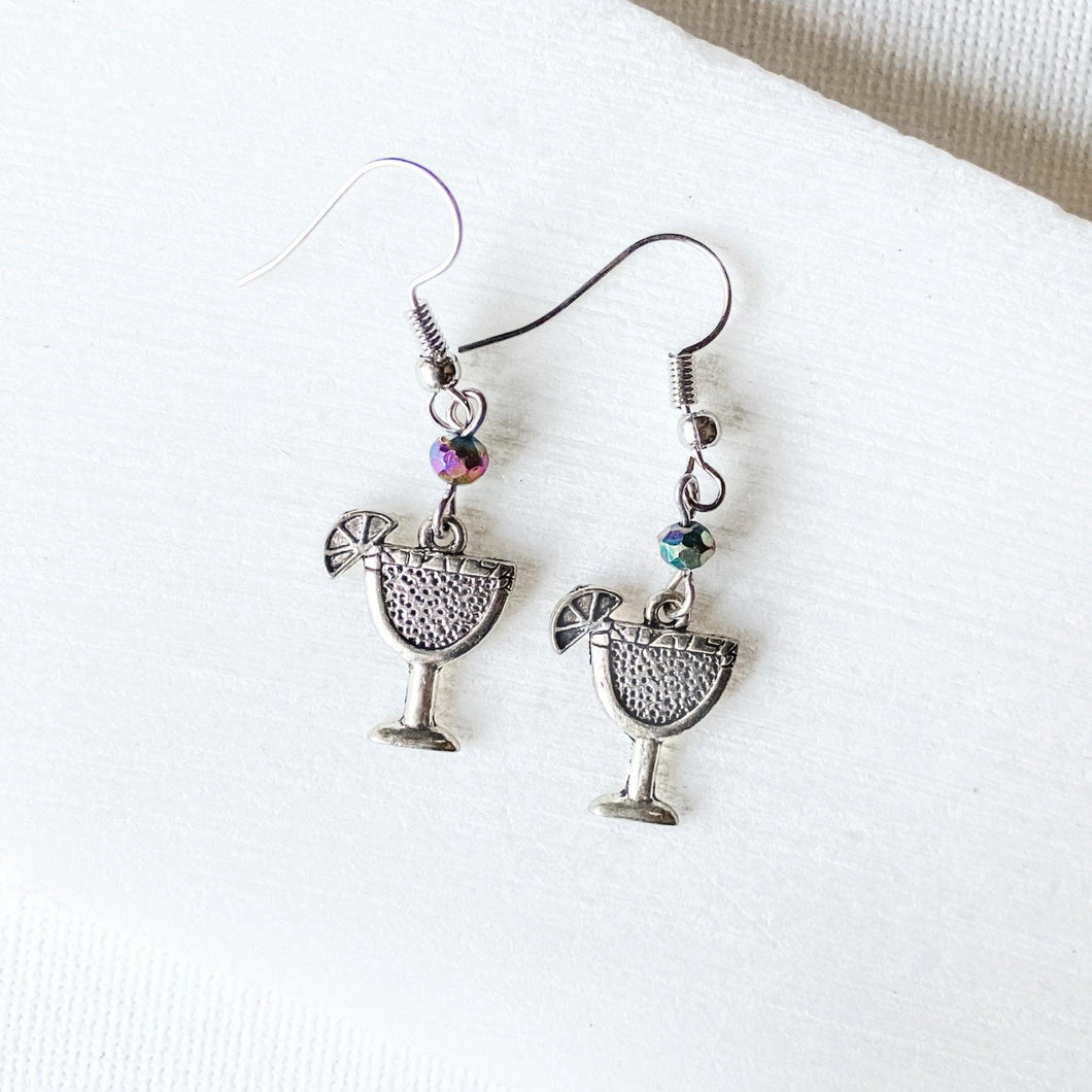 Cocktail Charm with Glass Beads Earrings Uni-T