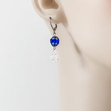 Rhodium Plated Earrings with Surgical Steel Ear Wire - Circle Clusters Uni-T