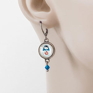 Glass Dome Russian Doll  Earrings Uni-T