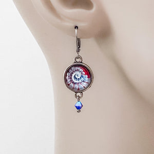 Glass Dome Sea Creatures Earrings Uni-T