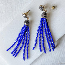 Pave Swarovski Crystal Tassel Stud Earrings Uni-T