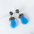 Chalcedony Blur Swarovski Crystal Pave Earrings Uni-T