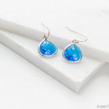 Blue Gem Drop Earrings Uni-T