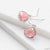 Pink Small Gem Drop Earrings Uni-T