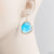 Large Gem Drop Earrings - Blue, Clear Uni-T