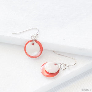 Enamel Disc Earrings Uni-T