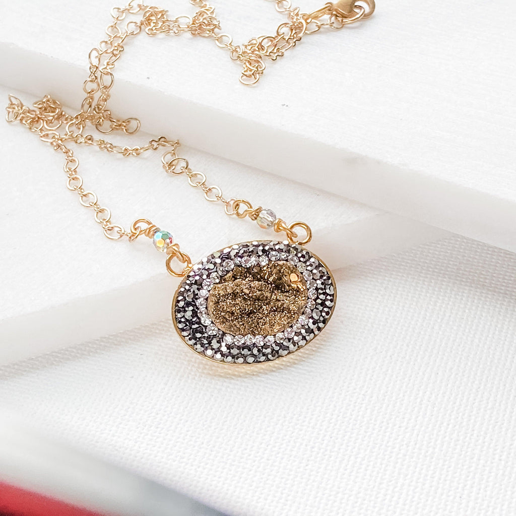Pave Oval Necklaces Uni-T