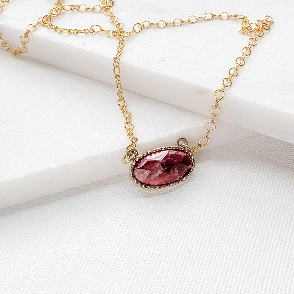 Agate Oval Necklace Uni-T