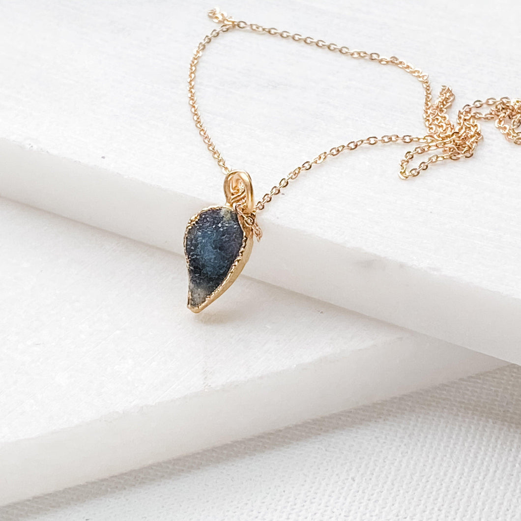 Druzy Agate Necklace Uni-T