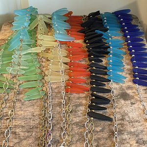 Tusk Sea Glass Necklaces in Assorted Colors Uni-T