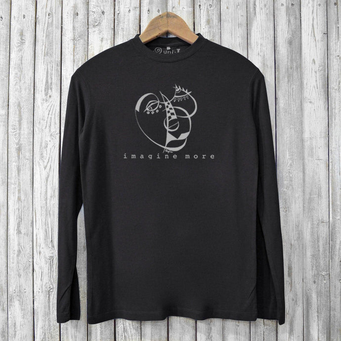 Imagine More, Long Sleeve T-shirts for Men Uni-T