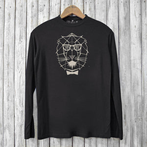 Lion Long Sleeve T-shirts for Men Uni-T
