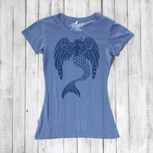 Mermaid Shirt | Angel T-shirt | Women's Bamboo Clothing | Eco Friendly Clothing