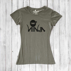 NINJA Shirt for Women | Funny Graphic Tee | Eco-friendly Clothing