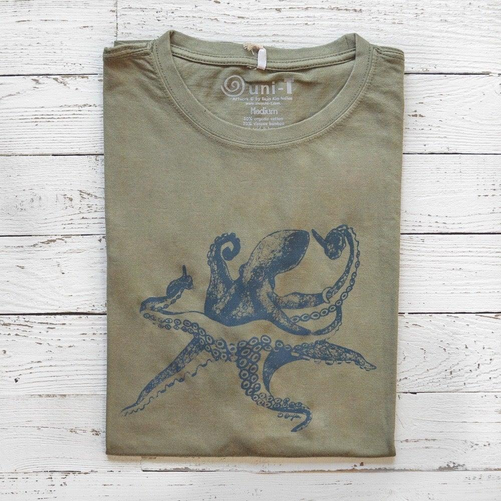 OCTOPUS  T shirt | Eco-friendly T shirts | Bamboo & Organic Cotton Tee | Uni-T