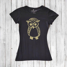 Owl Shirt | Women's Bamboo Organic Cotton T-shirt | Cute Tee Shirt