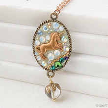 Unicorn Polymer Clay Pendant on Tiny Plated Ball Chain Uni-T Necklace