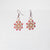Woven Silver Seed Beaded Rope Earrings with Silver Crystals Uni-T Earrings