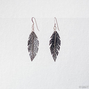 Hand Cut Leather Feather Earrings Uni-T Earrings