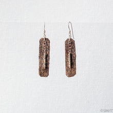 Hand Cut Rectangle Brown Vegan Leather Earrings Uni-T Earrings