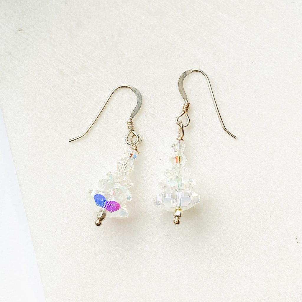 Clear Crystal Christmas Tree Earrings Uni-T Earrings