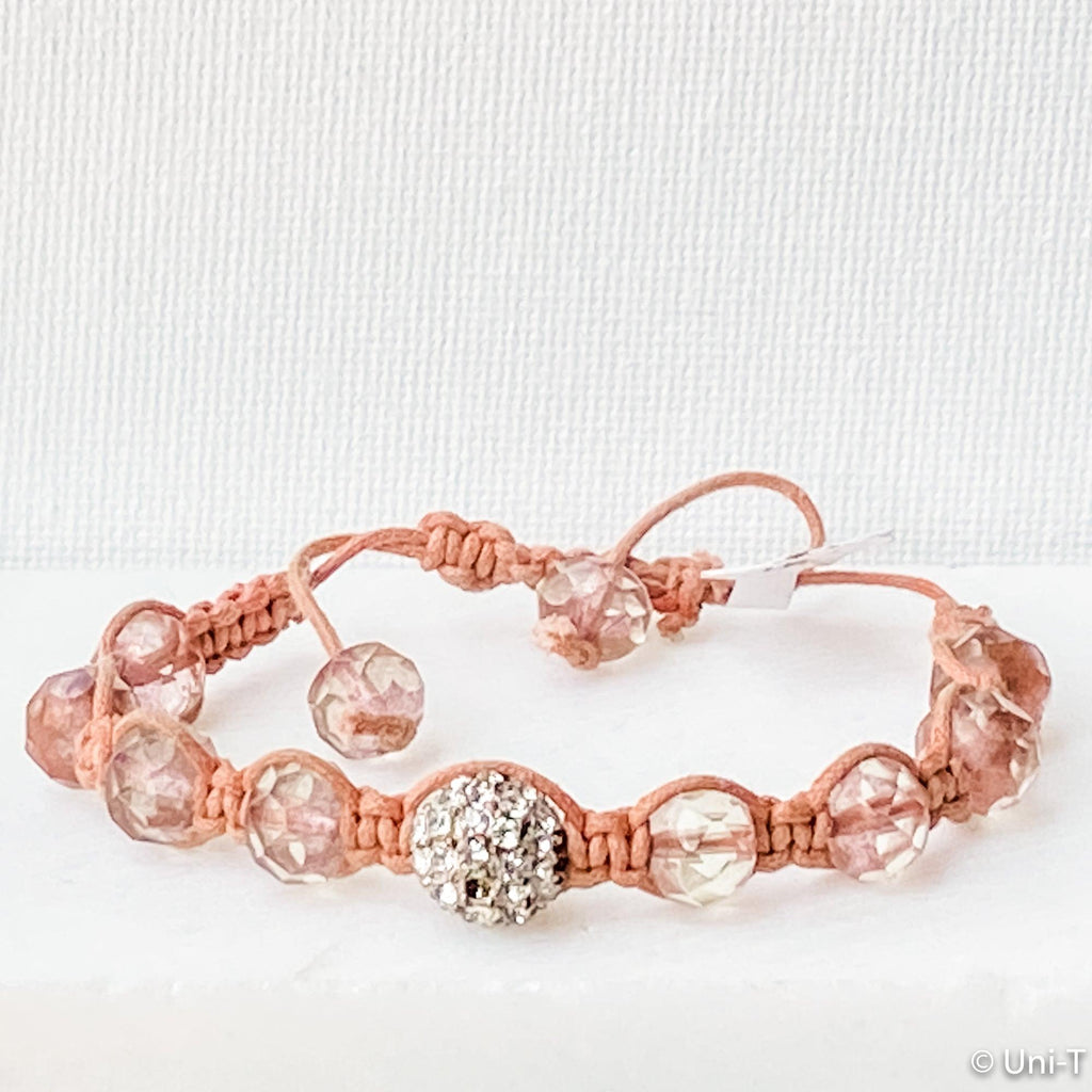 Millennium Pink String Braided Adjustable Bracelet Uni-T Bracelets