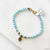 Cat charms with Semi Precious Stones Bracelets Uni-T Bracelets