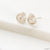 Fine Silver Flower Studs Earrings, 99% Pure Silver Precious Metal Clay Uni-T Earrings