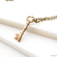 Skeleton Key Necklace, Precious Metal Clay Bronze Necklaces Uni-T Necklace