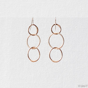 Triple Gold filled Ring Earrings