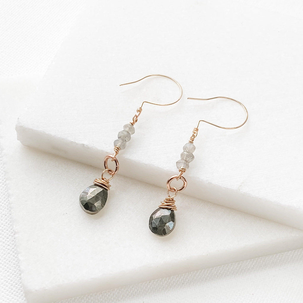 Pyrite Drop and Dangle Earring